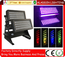 Hot-sales 96*18w rgbwA+uv 6in1 city color wash LED illumination of buildings and motion sensor outdoor protective