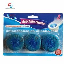 3 Pack Blue Bubble Auto Solid Toilet Cleaner