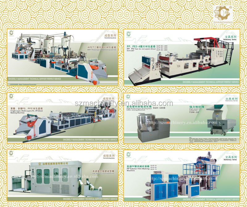 3D PET Sheet Extrusion line plastic machinery