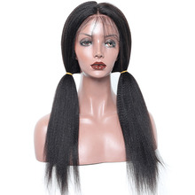 Qingdao wig factory small cap bleached knots 130% density kinky straight full lace wig with baby hair