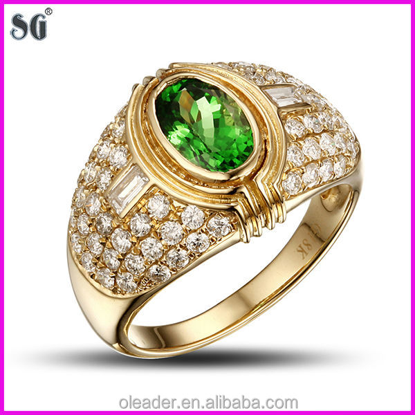 Chinese Manufacturers Big Metal Plated 18k New Gold Ring ...