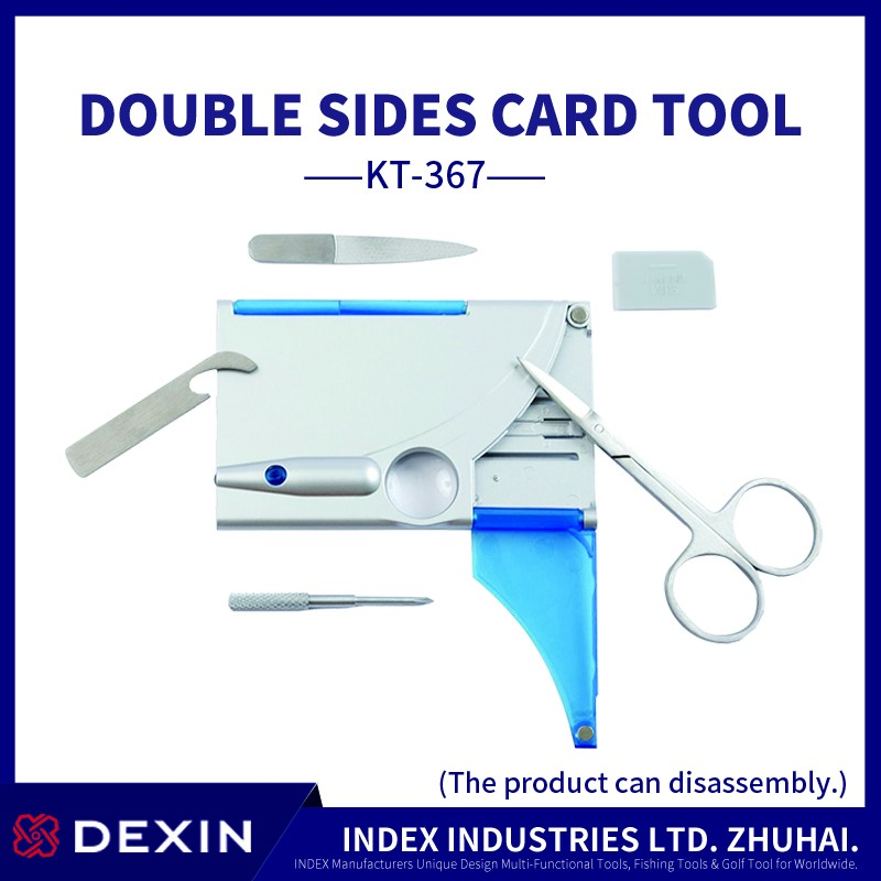 Hot selling amazon professional tools Double card hardware tools with LED lighting