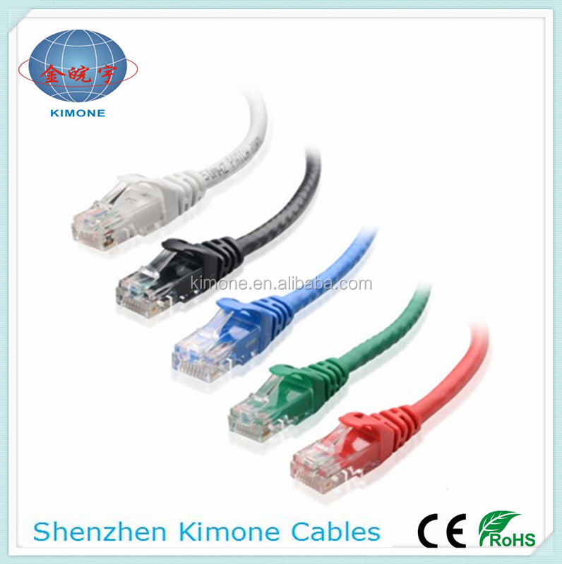 High quality CCA 4Pair UTP best price utp cat5e patch cord color code