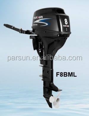 4-stroke 8hp outboard motor / manual start / tiller control / short shaft / F8BMS / PARSUN