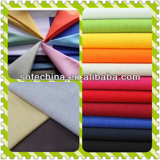 100% cotton fabric for making shirt supplier - 100% C 40*40 133*72 57/58""