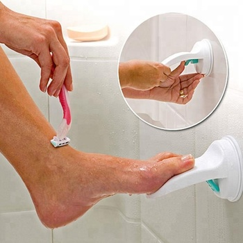 Bathroom Pedestal Grip Shaving Suction Cup Bath Portable Shower Foot Rest