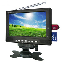 Factory supply dc 12v 7 inch car lcd monitor mini tv