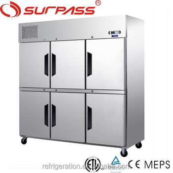 DT1.6L6FC Six Doors Commercial Upright chiller/ Freezer