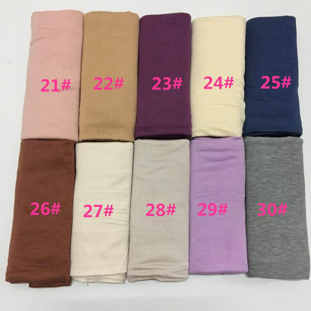 Newest Luxury Plain color Fashion Jersey hijab for Muslim