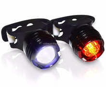 Mini Led button cell tail bicycle light aluminum waterproof safety warning bike light