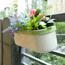 Hot Sale Z1217 Metal Hanging Flowerpot/Garden Pot with Shelf