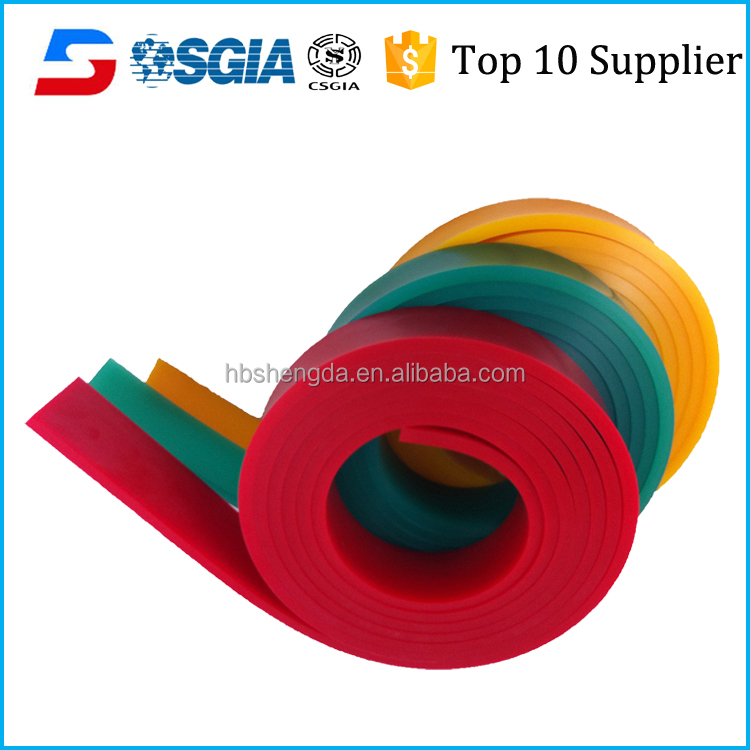 rubber urethane squeegee for screen printing