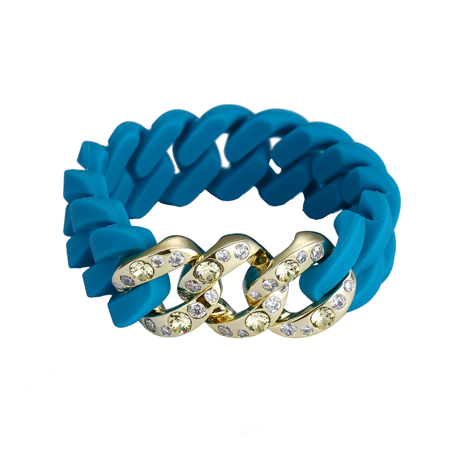 51888 xuping Rubbzz silicone bracelet, crystals from Swarovski ladies bracelet, timepieces, <strong>jewelry</strong>, eyewear