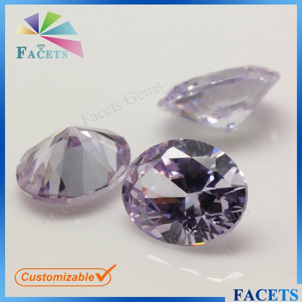 Online Shoping Synthetic Gemstones Oval Cut Raw Gems Lavender stones Buyers Favorable