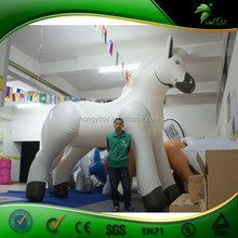 Top Quality White Inflatable Giant Horse / 0.4mm PVC Inflatable Standing Horse For Sale