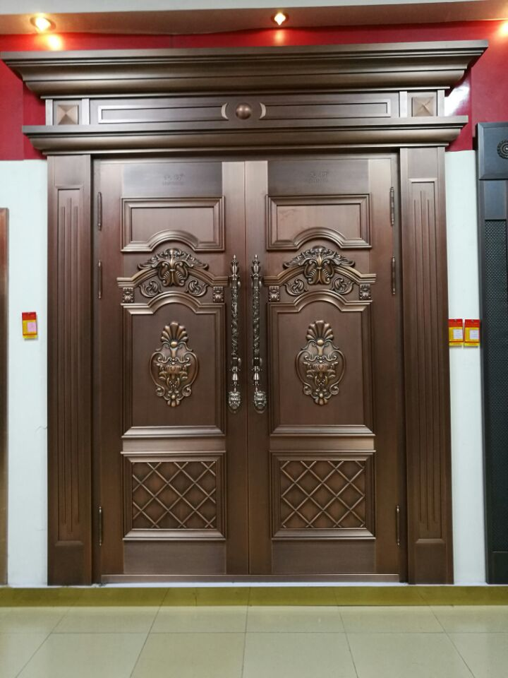Swing Gate With Arch Top Design Kerala House Double Leaf Copper Main Door    Buy House Gate,Design Of Main Gate,Security Gate For Patio Doors Product On  ...