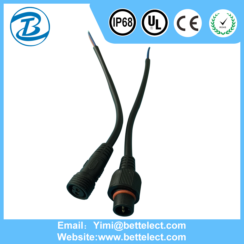 Best Chinese Female Male 2 Pin 3 Pin 4 Pin Waterproof Molded Connector
