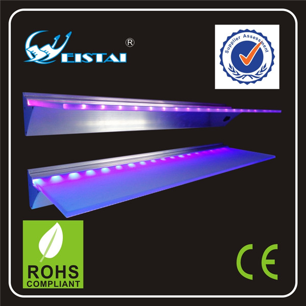 600mm LED Glass Shelf Display Light For Jewerly Showcase Aluminum Profile 18PCS White/Warm White/Blue LEDs 1W AC85-265V CE ROHS