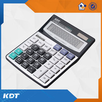 12 digits plastic calculator with silicon rubber