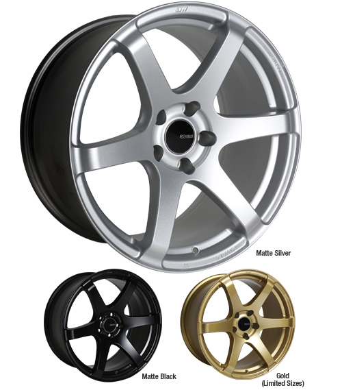 "Enkei 18x8.5"" T6S Lightweight Racing Series Wheels"