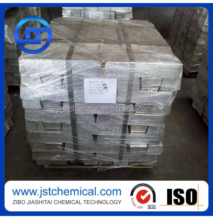 High purity 99.9% Magnesium ingot /Mg ingot in China factory