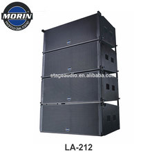 Professional Vertical Design Small Stadium Sound System Line Array Speaker Box Made In China Morin LA-212