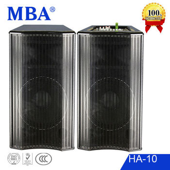 "High power Professional active stage concert speaker with 10"" amplifier and usb/sd/EQ /wireless microphone"