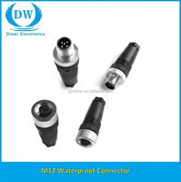 waterproof m12 connector simple design Electrical circular connector M12 from manufacturer