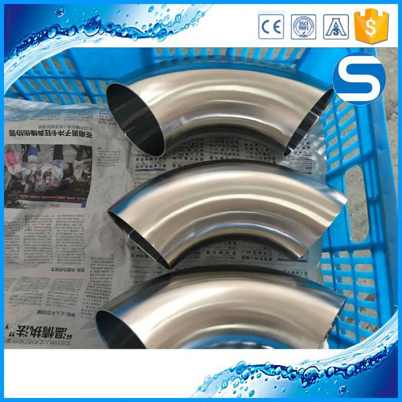 food grade/sanitary pipe stainless steel sch 40 elbow