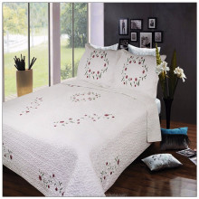Shanghai embroidery bed cover/ribbon embroidery bedsheet