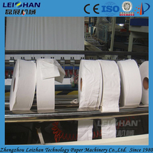 Industrial toilet paper roll cutting used paper slitter rewinder machine