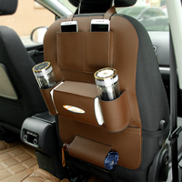 Auto interior accessories useful multi pocket PU leather car back seat organizer