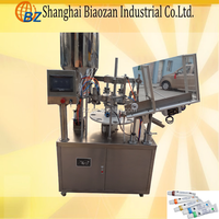 Manual semi automatic aluminium tube filling machine for adhesive liquid