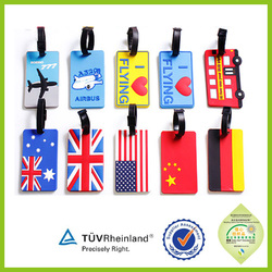 Low-cost high-quality green bulk silicone / PVC luggage tag/hot sale products