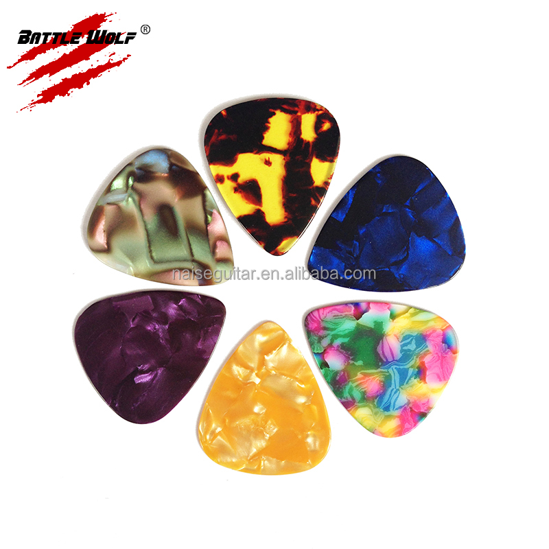 Mix Pearl Colrs Celluloid Different Thickness Blank Personalized Picks Guitar
