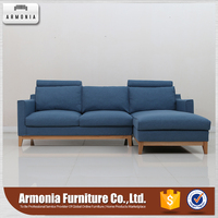 Sectional cushion wooden sofa design catalogue