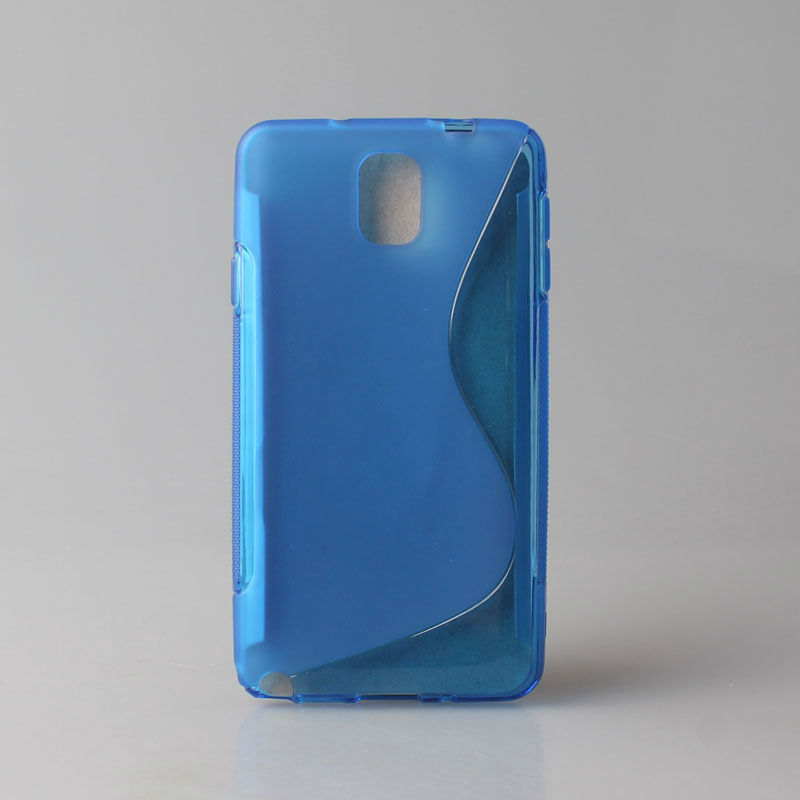 S-line TPU Case Mobile phone covers for Samsung Galaxy Note III 3 ,For Note3 TPU Back Skin