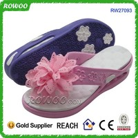 best selling trendy wedge EVA flip flop,Flower childrens flip flops