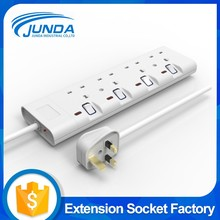 Wholesale alibaba master slave switch 3 way socket outlet power extension surge uk type