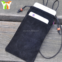 Wholesale Promotional Gifts Velvet Cellphone Pouch Earphone Holder