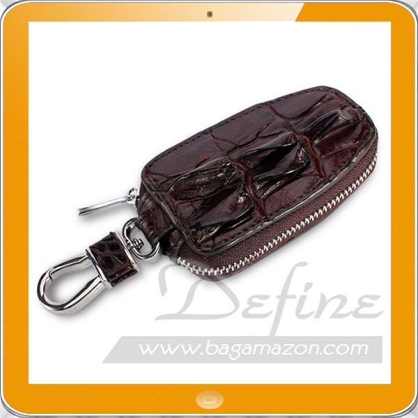 Leather Car Smart Key Holder Case Ring Small Purse Leather Key Case