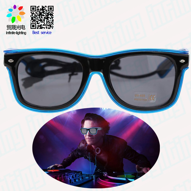 Updated classical party flashing sunglasses/ EL flashing sunglass for party