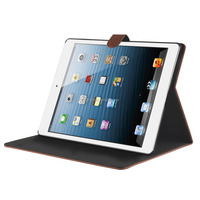 Premium Worn Grain Leather Ultra-Slim Flip Cover Luxury PU Folding Folio Stand Case With Auto Sleep For iPad Air 1 And 2