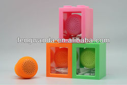 new product sucker cute ball silicone bluetooth speaker