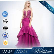 Brand Name China Fishtail Sexy Sheer Corset Wedding Dress