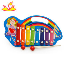 Wholesale professional percussion musical instrument 8 tone wooden kids xylophone W07C064