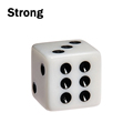 White Standard Plastic 12mm Game White Dice