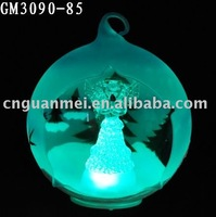 christmas angel glass ball hanging ornament with LED light