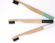 Eco friendly round handle shape bamboo toothbrush 100% biodegradable