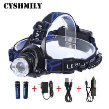 CE Camping headlight high power waterproof zoom xml t6 USB rechargeable led headlamp